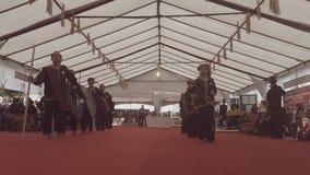 Danse traditionnelle au centre de culture de Kadazan Dusun Photographie stock