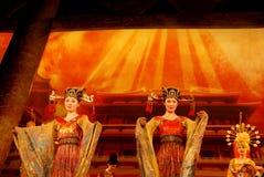 Danse traditionnelle chinoise Photos libres de droits