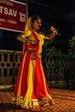 Danse traditionnelle d'Inde. Image libre de droits