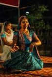 Danse traditionnelle d'Inde. Photo libre de droits
