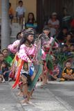 Danse traditionnelle de l'Indonésie Images libres de droits