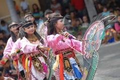 Danse traditionnelle de l'Indonésie Photographie stock