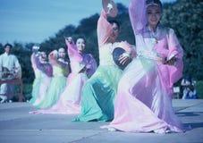 danse traditionnelle de la Corée photos libres de droits