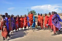 Danse traditionnelle de Maasai Photo stock