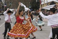 Danse traditionnelle du Chili Photo stock