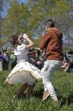 Danse traditionnelle le jour du St Francis d'Assisi, Chili Image stock