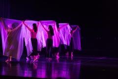Danse transparente 1 d'écharpe--Âne de drame de danse obtenir l'eau photos libres de droits