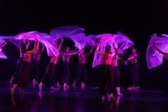 Danse transparente 2 d'écharpe--Âne de drame de danse obtenir l'eau images stock