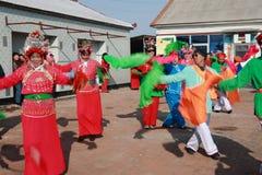 Danse Yangge à la Chine du Nord pendant la nouvelle année Images libres de droits