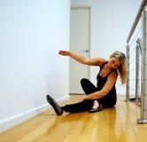 dansen öva sträckning Arkivfoto