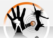 dansen dj blandar Arkivbilder