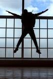 dansen dj man silhouetten Royaltyfria Bilder