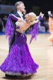 dansen för 20 kan den vuxna par det minsk programet Royaltyfria Foton