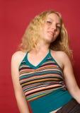 Dansend blonde meisje royalty-vrije stock foto