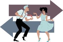Dansend de Draai royalty-vrije illustratie