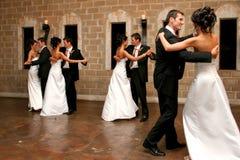 Dansend Dubbel Stock Foto's