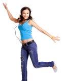 Dansend en luister Muziek stock foto