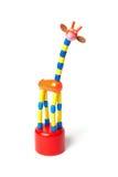 Dansend girafstuk speelgoed Stock Afbeeldingen