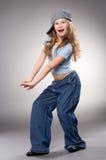 Dansend glimlachend meisje Royalty-vrije Stock Fotografie