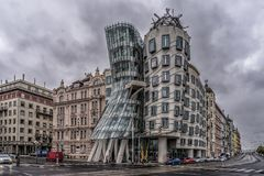 Dansend huis, Praag Stock Afbeeldingen