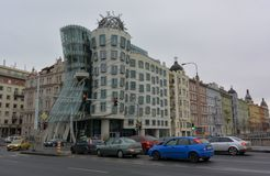 Dansend huis in Praag royalty-vrije stock foto