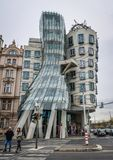 Dansend Huis in Tsjechisch Praag, royalty-vrije stock afbeelding