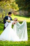 Dansend huwelijkspaar Royalty-vrije Stock Foto