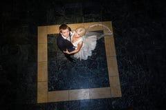 Dansend huwelijkspaar royalty-vrije stock afbeeldingen
