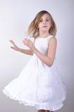 Dansend jong blond meisje Royalty-vrije Stock Fotografie