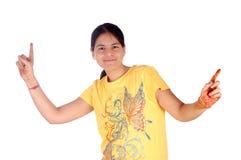 Dansend jong meisje royalty-vrije stock foto's