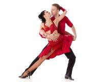 Dansend jong paar. royalty-vrije stock fotografie