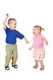 Dansend kind twee Stock Afbeeldingen