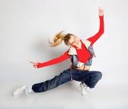 Dansend meisje Royalty-vrije Stock Afbeeldingen