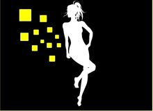 Dansend Meisje Stock Fotografie