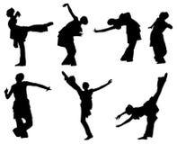 Dansend meisje silhouet-1 Royalty-vrije Stock Fotografie