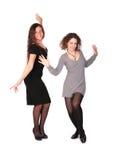 Dansend meisje twee Royalty-vrije Stock Foto's