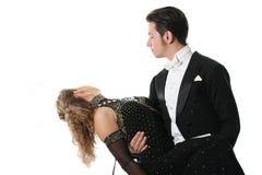 Dansend paar royalty-vrije stock afbeeldingen