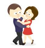 Dansend paar? dat op wit wordt geïsoleerdg Royalty-vrije Stock Foto