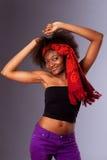 Dansend partijmeisje Royalty-vrije Stock Afbeeldingen