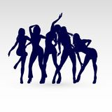 Dansend silhouet Royalty-vrije Stock Fotografie