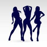 Dansend silhouet Royalty-vrije Stock Foto