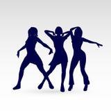 Dansend silhouet Stock Fotografie