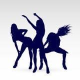 Dansend silhouet Stock Foto's
