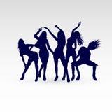 Dansend silhouet Stock Afbeelding
