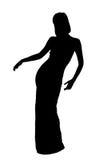 Dansend silhouet Royalty-vrije Stock Afbeelding
