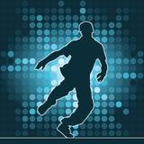 Dansend silhouet, breakdance Stock Foto's