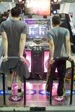 Dansend videospelletje Stock Foto's