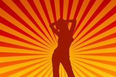Dansend wijfje Royalty-vrije Illustratie