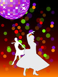 Dansende affiche (vector) Stock Afbeelding