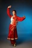 Dansende Aziatische vrouw Royalty-vrije Stock Foto